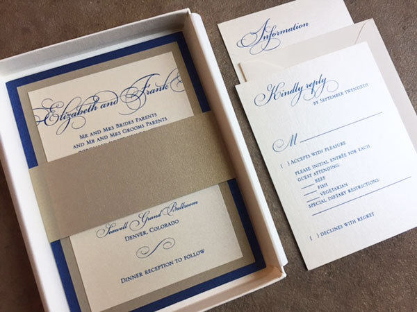 Custom Boxed Invitations - Any colors/style