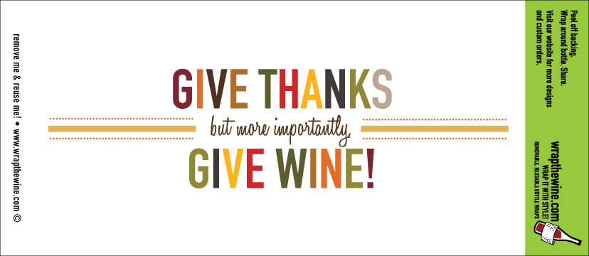 Give Thanks wine wrap