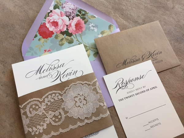 Vintage Floral and Lace Invitation